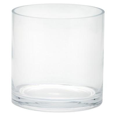 "Glass Cylinder Vase (6""x6"") - Diamond Star"""