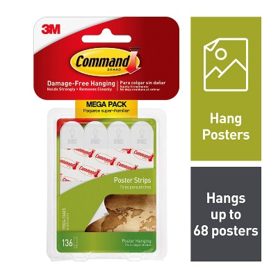 3M Command 136 Strips Poster White