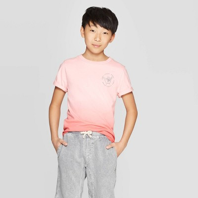 Boys' Short Sleeve Dip Dye T-Shirt - art class™ Pink