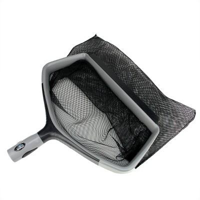 "Swimline Hydrotools H2O Pro Swimming Pool Deep Bag Leaf Rake Skimmer Head 17"" - Gray/Black"
