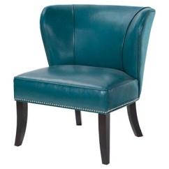 Target Blue Chair Ny Giants Hilton Concave Back Armless Peacock
