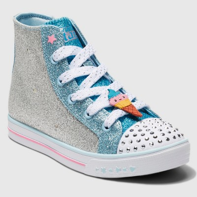 Toddler Girls' S Sport By Skechers Zelena Crystal Stars Light up Sneakers - Silver