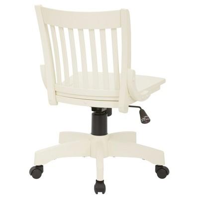 wooden white desk chair diy roman armless wood banker s antique office star target