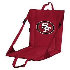 49ers Camping Chair Images Of Covers For Wedding Nfl San Francisco Stadium Seat Target Logo Brands Portable