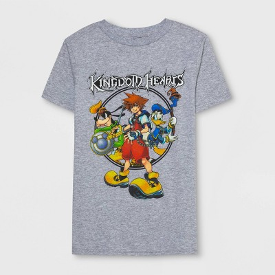 Boys' Kingdom Hearts Short Sleeve T-Shirt - Heather Gray