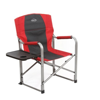 outdoor folding chair with side table walmart cushions kamp rite camping tailgating director s w red target
