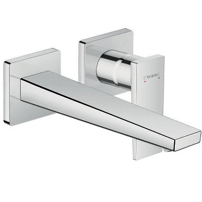 HansGrohe America, Inc. 32526 Metropol 1.2 (GPM) Wall Mounted Bathroom Faucet Less Drain Assembly and Valve