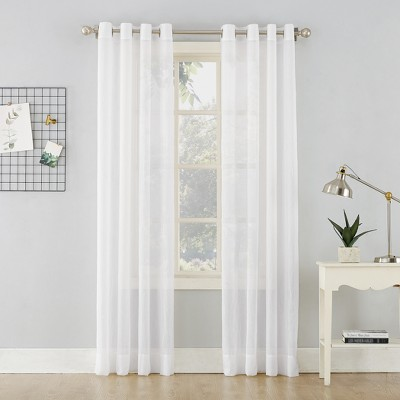 Erica Crushed Sheer Voile Grommet Curtain Panel - No. 918