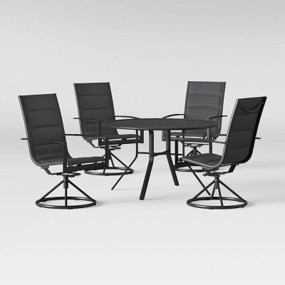 avalon 5pc sling steel patio dining set project 62