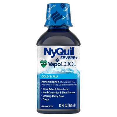 NyQuil Severe With Vicks Vapocool Nighttime Cold & Flu ...