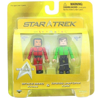 Diamond Comic Distributors, Inc. Star Trek Minimates Figure 2 Pack - Space Seed Khan & Dress Uniform Kirk