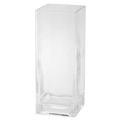 "10""x4"" Glass Rectangle Vase - Diamond Star"