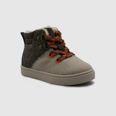 Toddler Boys' Keegan Casual Sherpa Sneakers - Cat & Jack™ Beige