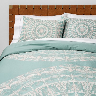 Animal Medallion Duvet Cover & Pillow Sham Set Blue - Opalhouse™
