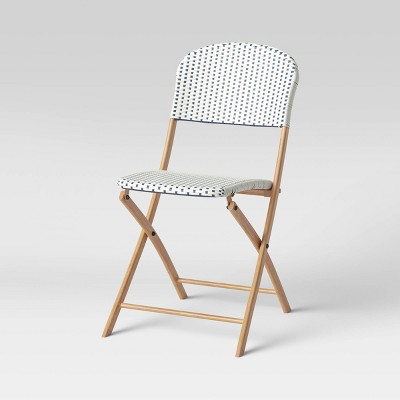 french cafe folding patio bistro chair threshold
