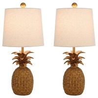 Pineapple Table Lamp (Set of 2) - Abbyson : Target