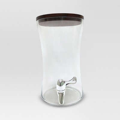 6L Glass Beverage Dispenser with Acacia Lid - Threshold™
