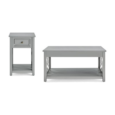 36 middlebury coffee table and end table gray alaterre furniture