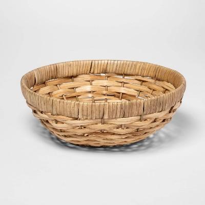 Round Woven Wicker Serving Bowl Khaki - Threshold™