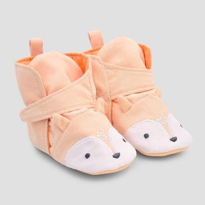 Baby Fox Crib Shoes - Cloud Island™ Orange
