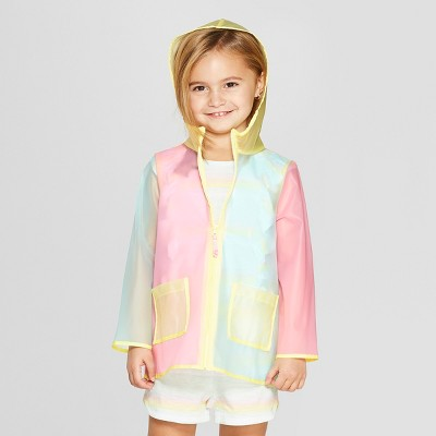 Toddler Girls' Solid Rain Coat - Cat & Jack™