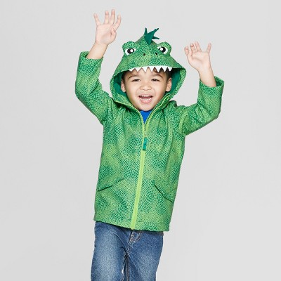 Toddler Boys' Dinosaur Rain Jacket - Cat & Jack™ Green
