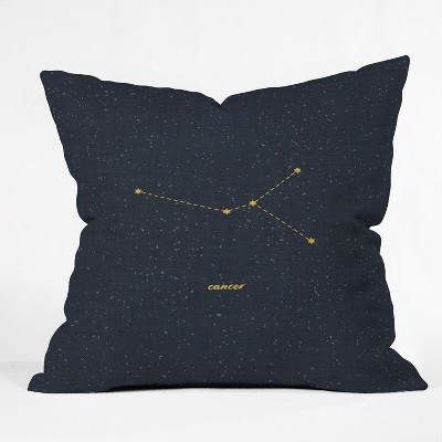Holli Zollinger Constellation Cancer Square Throw Pillow Blue - Deny Designs
