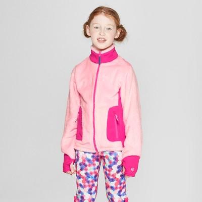 Girls' Long Sleeve Fleece Jacket - C9 Champion® Pink