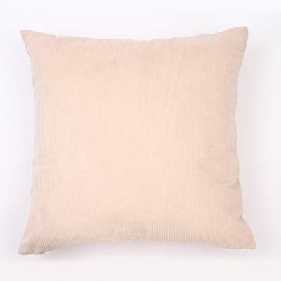 18 x18 solid ribbed textured square throw pillow cream freshmint