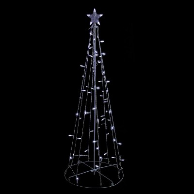 Northlight 5' Prelit Artificial Christmas Tree Show Cone - Cool White Lights
