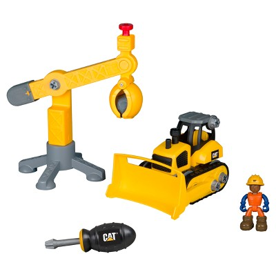 Caterpillar Junior Operator Work Site Machine Pair- Bulldozer & Crane