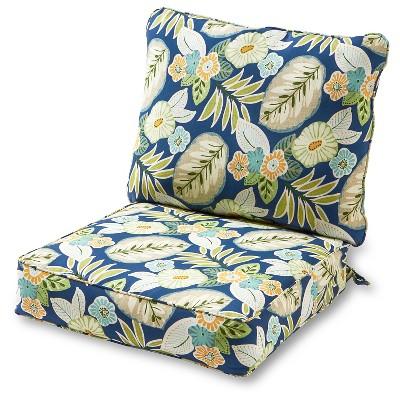 2pc marlow floral outdoor deep seat cushion set kensington garden