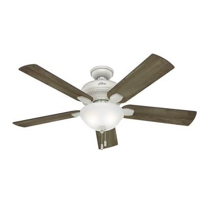 "52"" Matheston Cottage White Ceiling Fan with Light - Hunter Fan"