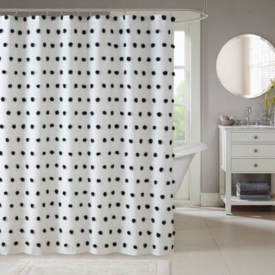 ashley shower curtain black