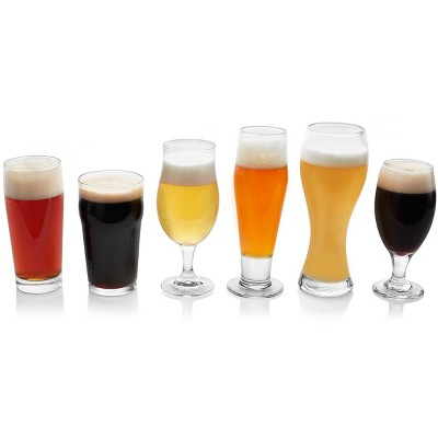 Libbey Craft Brew Assorted Beer Glasses 16oz - Set of 6
