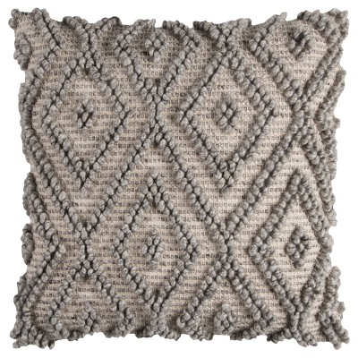 Natural And Grey Geometric Throw Pillow - Rizzy Home