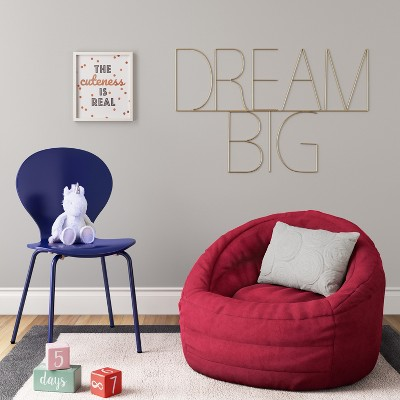 bean bag chairs for adults target wicker rocker chair cocoon with pocket pillowfort