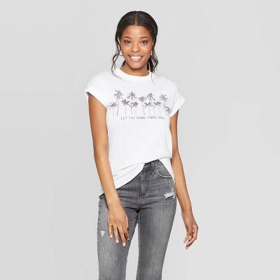 Women's Sleeveless Scoop Neck Let The Good Vibes Roll T-Shirt - Grayson Threads (Juniors') - White