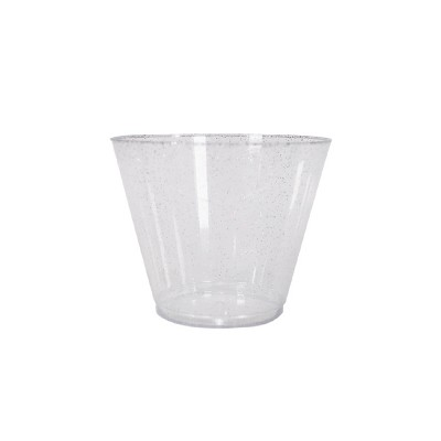 20ct Stemless Wine Glasses Silver - Spritz™