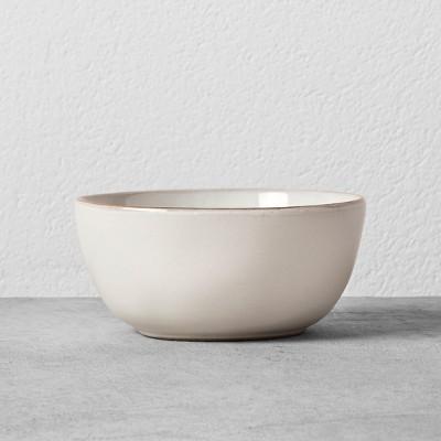 Stoneware Dessert Bowl - Cream/Gold - Hearth & Hand™ with Magnolia