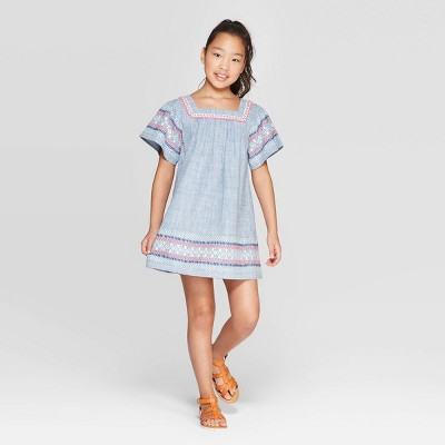 Girls' A Line Dress - Cat & Jack™ Blue