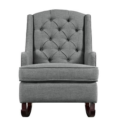 gray rocking chair for nursery white saucer target baby relax zoe tufted