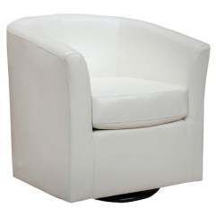 Swivel Club Chair Serta Jennings Review Daymian Faux Leather Christopher Knight Home