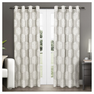 Set of 2 Akola Light Filtering Window Curtain Panels - Exclusive Home