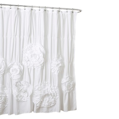 Lush Décor Serena Flower Texture Shower Curtain
