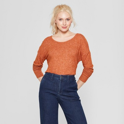 Women's Long Sleeve Cozy Knit Top - A New Day™