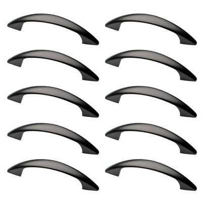 "10pk 3"" 76mm Modern Curve Pull Dark Oil Rubbed Bronze - Franklin Brass"