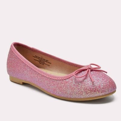 Girls' Lesley Glitter Ballet Flats - Cat & Jack™ Pink