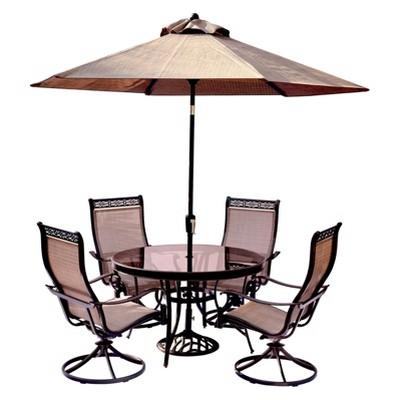 target sling chair tan swing ubud monaco 7pc round metal dining set w swivel chairs 9 umbrella stand hanover