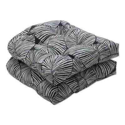 2pc outdoor indoor seat cushion set talia noir black pillow perfect